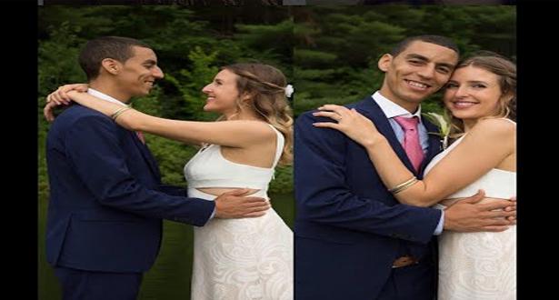 الأمريكية جينفير المتزوجة من مغربي توجه رسالة لمنتدقي شكل زوجها وحياتها الخاصة
