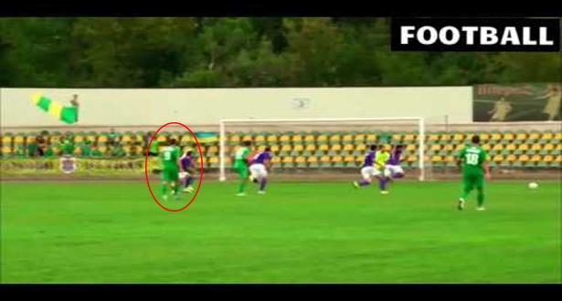 لاعب أوكراني سجل هدف على طريقة ركلة العرقب الشهيرة للحارس