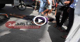 شاحنة تدهس سائق دراجة نارية بالبيضاء و ترديه قتيلا على الفور