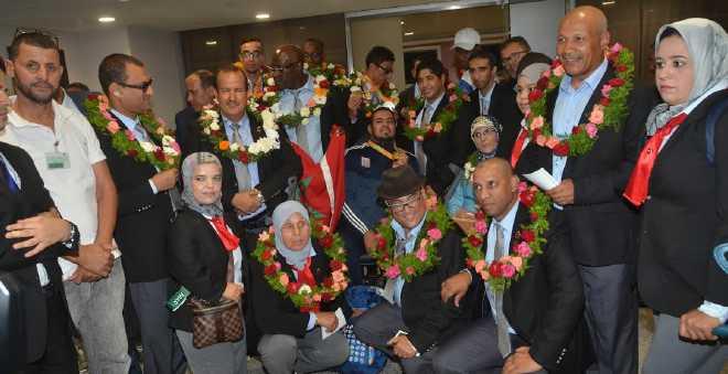 استقبال حار للأبطال المغاربة في الألعاب البارالمبية