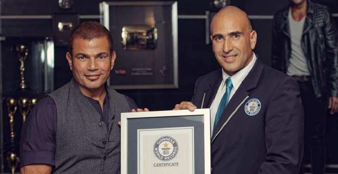 عمرو دياب يدخل موسوعة جينيس بأكبر عدد من الجوائز و المبيعات