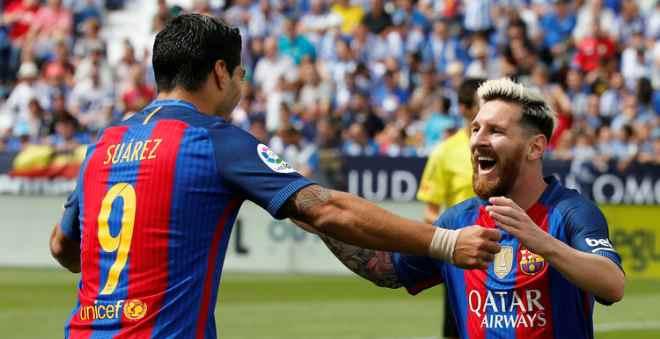 برشلونة يدك شباك الصاعد الجديد لليغا بخماسية و يستعيد الصدارة مؤقتا