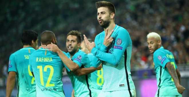 برشلونة يفوز بصعوبة على مونشنغلادباخ في دوري الأبطال