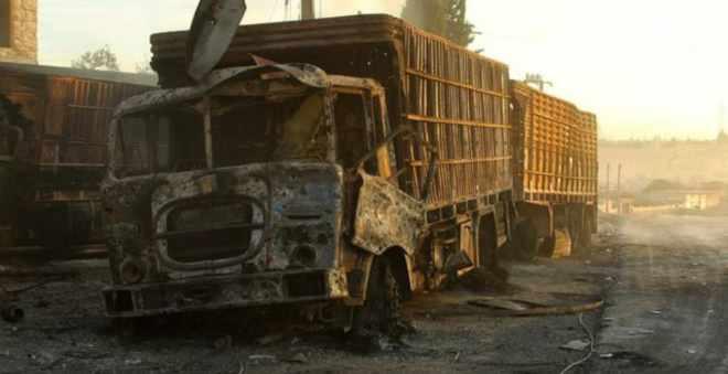 استهداف قافلة إغاثة في حلب السورية يثير