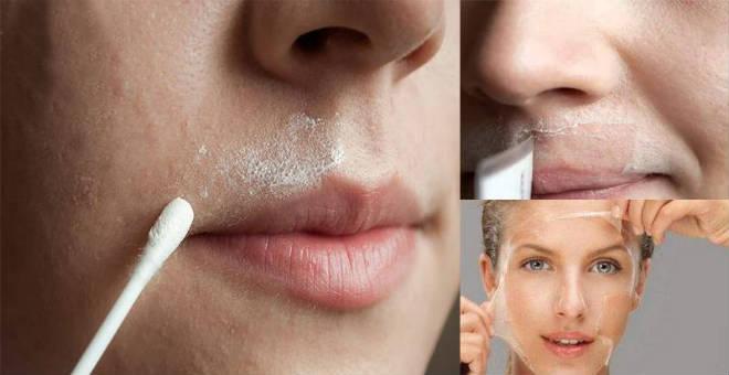 جربي إزالة شعر الوجه عن طريق الملح لبشرة ناعمة ودون ألم