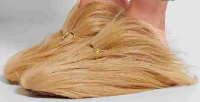 غريب.. شركة أزياء عالمية تطلق نعلا مصنوعا من الشعر الطبيعي !!