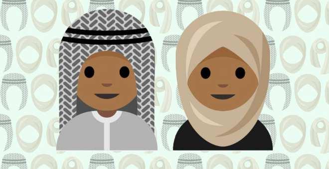 طفلة سعودية تبتكر أول باقة وجوه تعبيرية بالحجاب الإسلامي