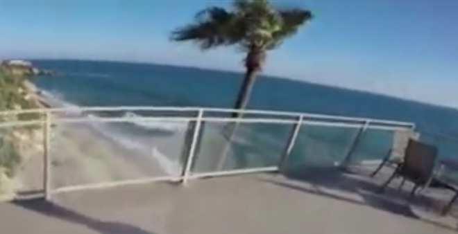 مثير.. شاهد كيف قفز هذا الشاب المتهور من سطح فندق !!