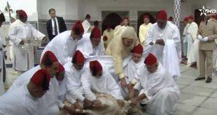 الملك محمد السادس ينحر أضحية العيد