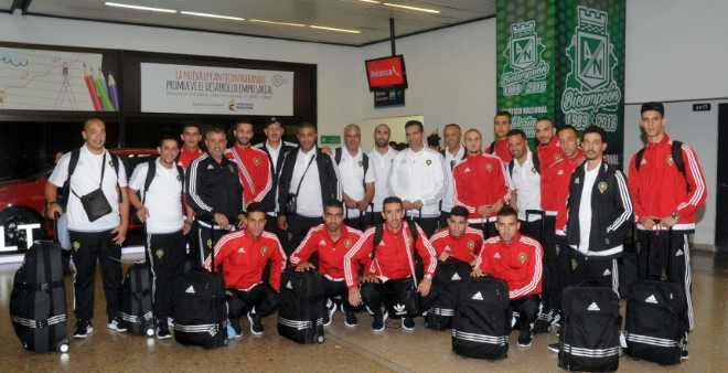 المنتخب الوطني يصل لكولومبيا للمشاركة في المونديال
