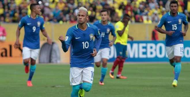 نيمار يقود البرازيل للمركز الثاني في التصفيات