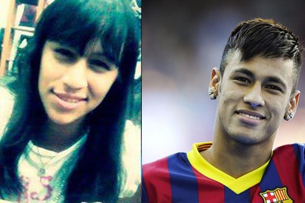 شبيهة لاعب برشلونة نيمار