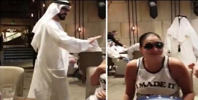 فيديو.. الشيخ محمد بن راشد آل مكتوم يلقي التحية على غادة عبد الرزاق