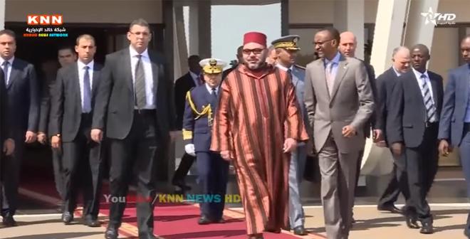 شاهد الطريقة الرائعة التي ودع بها الملك محمد السادس في رواندا