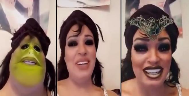 الفنانة فيفي عبده تغزو عالم السناب شات بأسلوبها الخاص !!