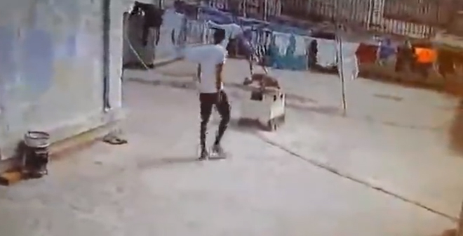 بالفيديو لص السطح وقع في فخ الكاميرا..شاهدو طريقته الماكرة في السرقة !