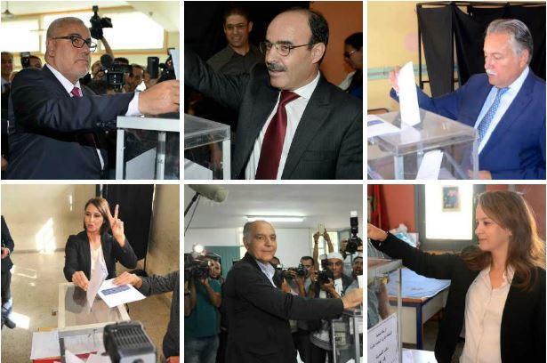 بالصور. الأمناء العامون يتوجهون لمكاتب التصويت وبنكيران يؤكد: إذا لم أنجح سأغادر الحياة السياسية!