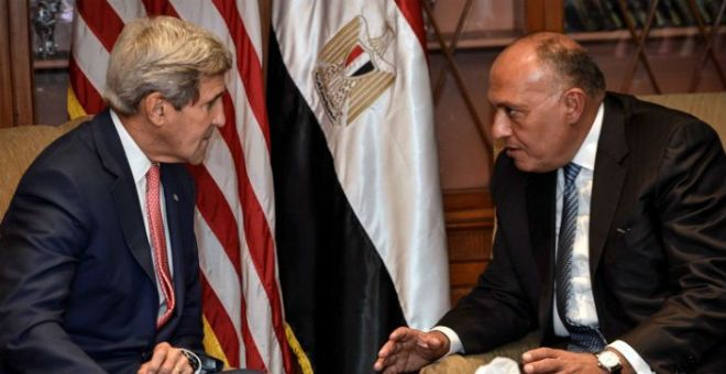 الأزمة في ليبيا في صلب حدث بين سامح شكري وجون كيري