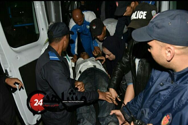 بالصور.. حادثة سير تقود سجناء عكاشة إلى المستعجلات