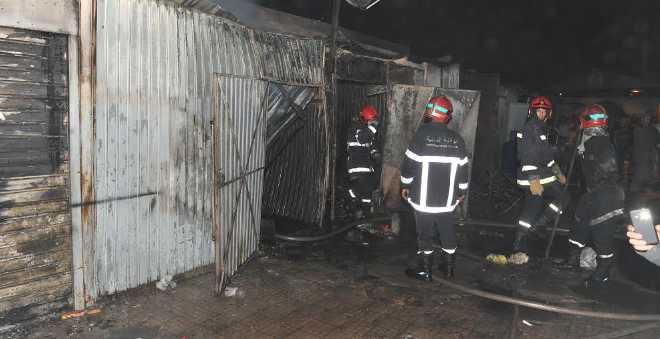 تماس كهربائي يتسبب في اندلاع حريق بسوق عرج بالدار البيضاء