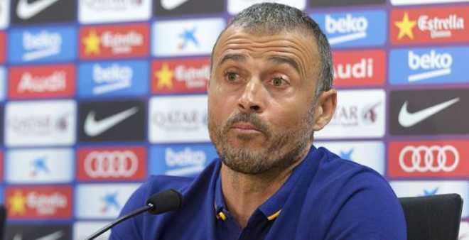 لويس إنريكي يعلن رحيله عن برشلونة