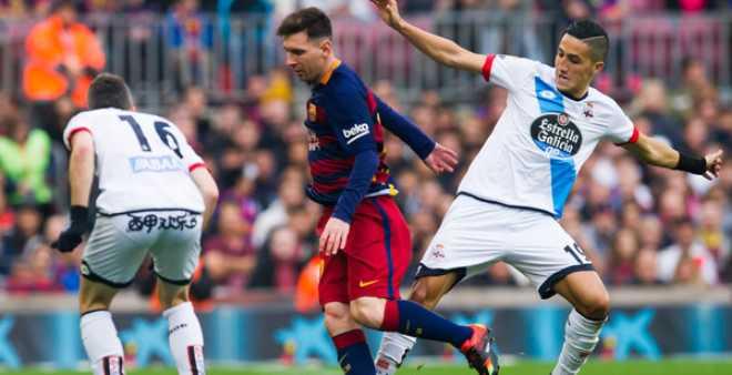 فيصل فجر يغيب عن لاكورونيا أمام برشلونة