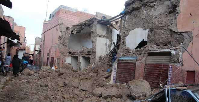 منازل متصدعة ومتآكلة تتهدد حياة سكان المدينة القديمة بمراكش