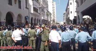 الأمن يحاصر مسيرة تنسيقية إسقاط التقاعد بالرباط