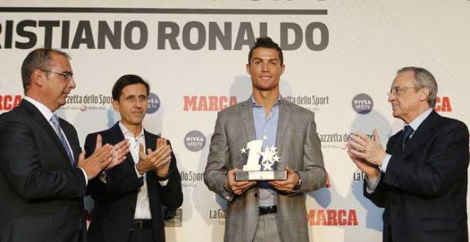 رونالدو يحصل على جائزة أفضل رياضي أوروبي