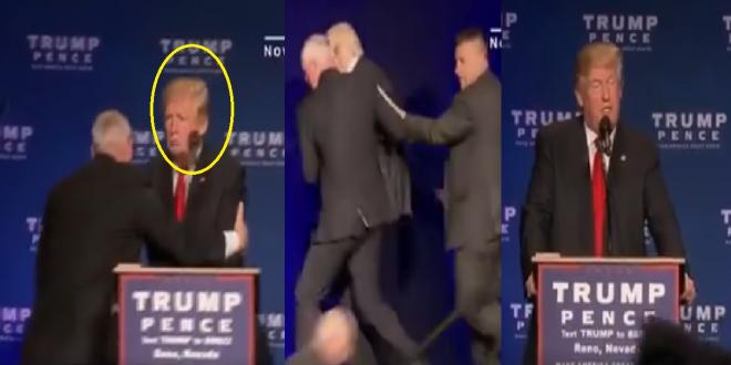 شاهد محاولة اغتيال الرئيس الأمريكي ترامب..و هكذا كانت ردة فعله