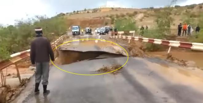 فيديو.. انهيار قنطرة خميس أولاد الحاج بإقليم اسفي