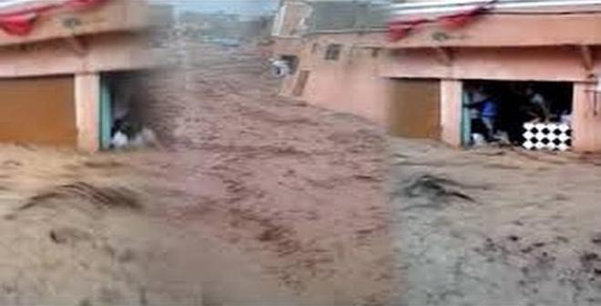بالفيديو.. مشهد مرعب لفيضان بواد اوريكا نواحي مراكش