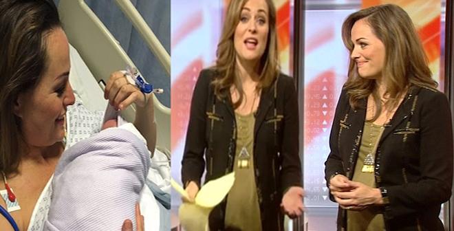 بالفيديو.. مذيعة BBC كادت أن تلد طفلها على الهواء مباشرة