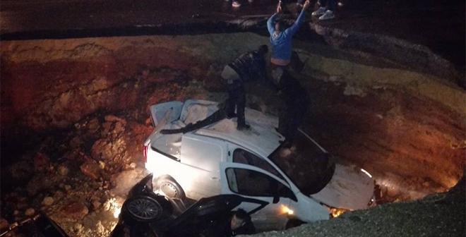 مشاهد لحفرة عملاقة ظهرت وسط الجزائر العاصمة