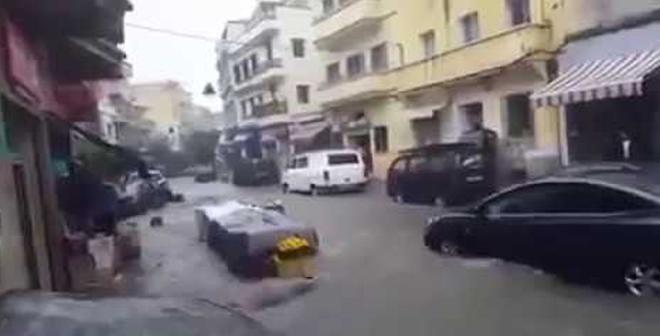 أول فيديو لفيضان طنجة