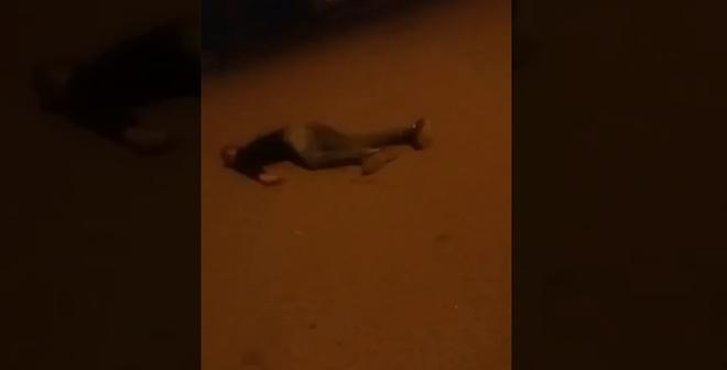 أول فيديو لإطلاق شرطة بني ملال الرصاص الحي على شاب يحمل سكينا