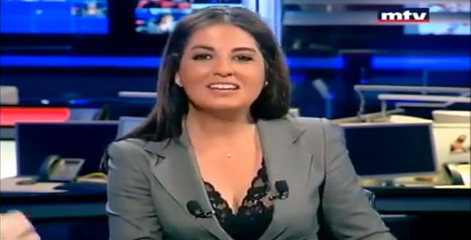 موقف محرج لمذيعة قناة MTV على الهواء