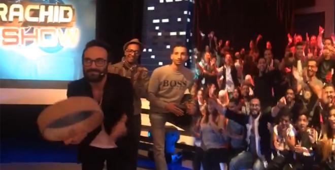 لقطات من بلاطو رشيد شو الجديد حلقة عثمان مولين