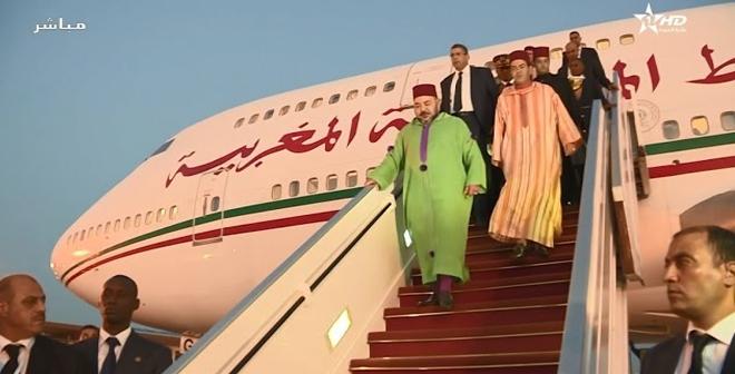 فيديو.. مراسم وصول الملك محمد السادس لدكار السنغالية