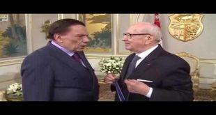 عادل إمام و الرئيس التونسي السبسي