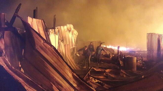 بالصور.. حريق بأحد دواوير البيضاء يخلف خسائر كبيرة