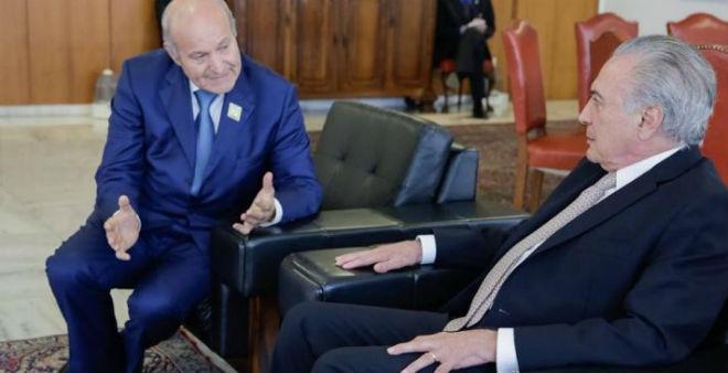 رجل الأعمال الجزائري يسعد ربرارب في ضيافة رئيس البرازيل