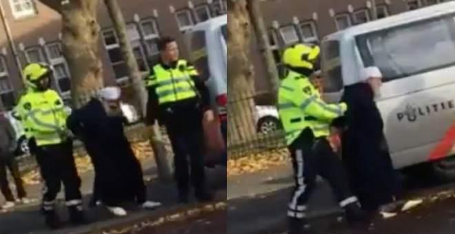 فيديو اعتقال عجوز مغربي بهولندا يخلق ضجة في أوساط الجالية!!