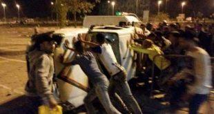 أعمال شغب و فوضى عقب نهاية مباراة اتحاد طنجة و المغرب الفاسي