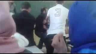 فيديو خطير : شاهد ماذا فعل أستاذ مع تلميذه في القسم بمعهد محمد الخامس