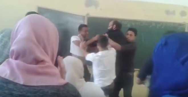 وزارة بلمختار توقف أستاذا دخل في شجار عنيف مع تلميذه بتارودانت!