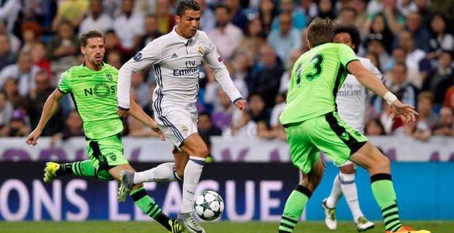 ريال مدريد يفوز على سبورتينغ ليشبونة بصعوبة