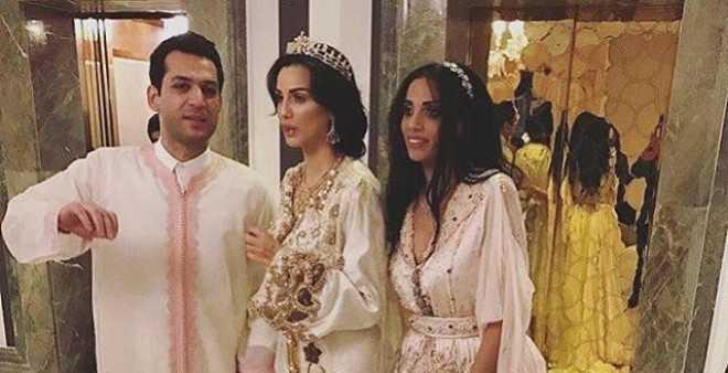 بالفيديو.. التركي مراد يلدريم بلباس تقليدي مغربي فوق العمارية خلال زفافه