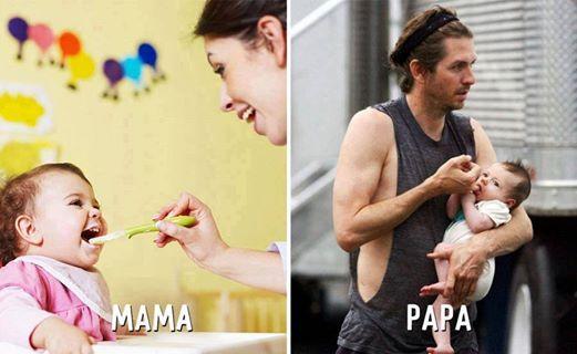 الام vs الأب