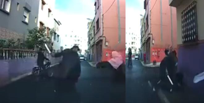 فيديو.. محاولة سرقة مواطن تحت التهديد بالسلاح بعد خروجه من أحد الأبناك
